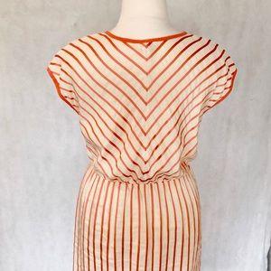 Escada Dresses - Escada Sport Cadmium Orange Stripe Dress
